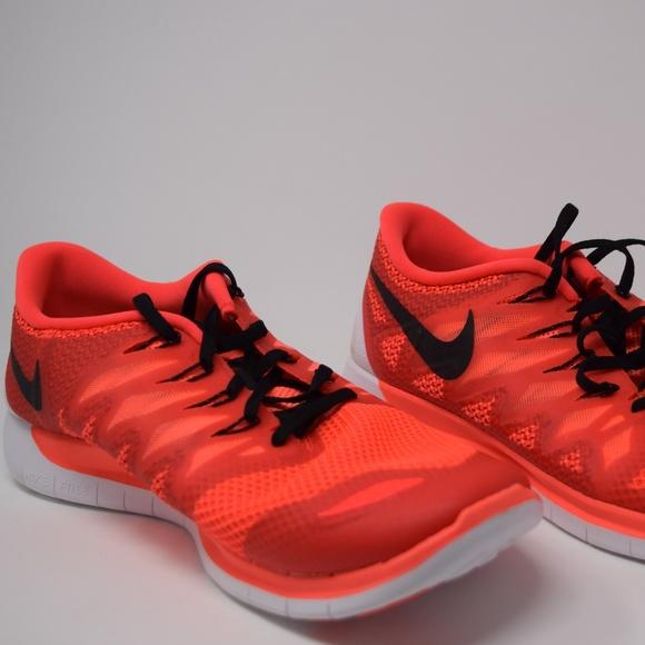 quality design 126fd a00da Nike Free 5.0 Mens 642198-602 Crimson Lava Red NEW NWT